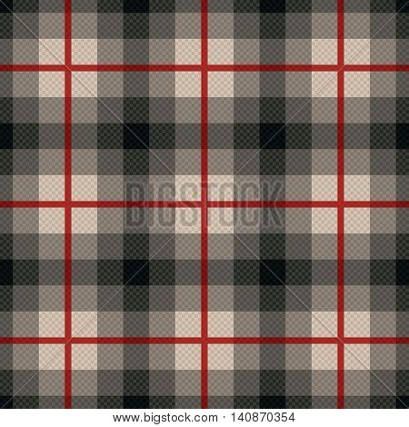 Rectangular Seamless Fabric Pattern In Gray And Red