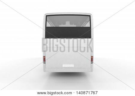 Bus Mock Up on White Background 3D Illustration