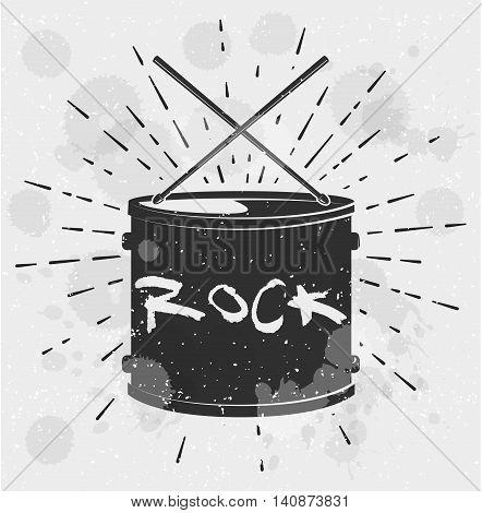 Drum Music Instrument Vector Illustration. Vector Illustration