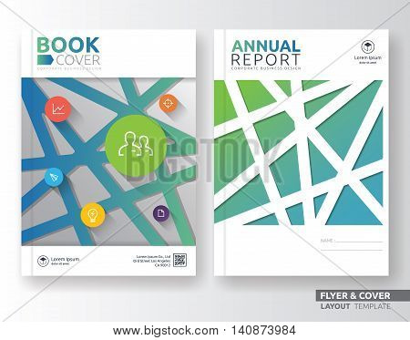 Multipurpose corporate business flyer layout template design. Suitable for flyer brochure book cover and annual report. A4 size with bleeds.
