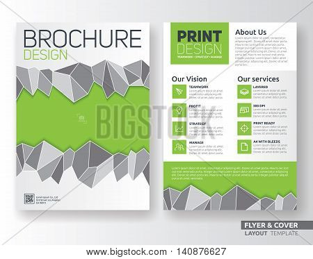 Multipurpose corporate business flyer layout design. Suitable for flyer brochure book cover and annual report. A4 size template background with bleeds.