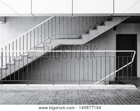 Cement stairs with Concrete wall Modern Architecture Details Structure
