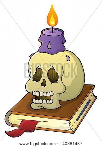 Skull theme image 1 - eps10 vector illustration.