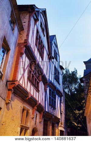 Old architecture of Nantes. Nantes Pays de la Loire France