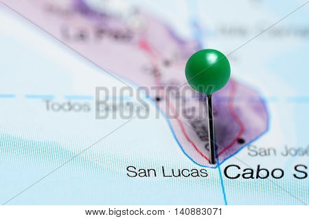 San Lucas pinned on a map of Mexico