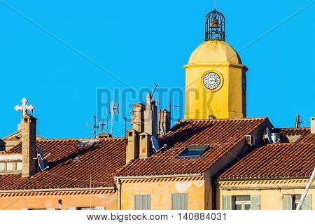 Notre Dame Church in Saint-Tropez. Saint-Tropez Provence-Alpes-Cote d'Azur France.
