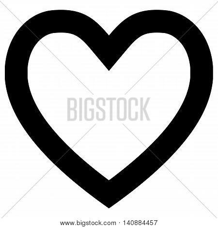 Love Heart heart shape doodle sketch illustration black and white