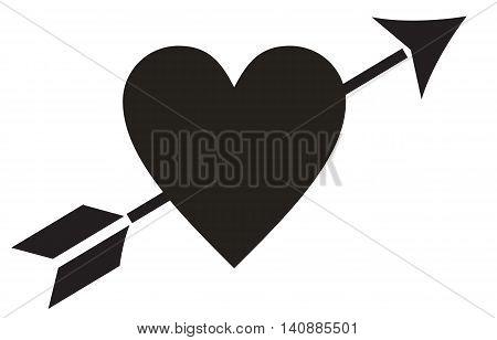 Love Heart Arrow heart shape arrow symbol arrow - bow and arrow