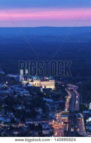 Klosterneuburg Monastery seen at sunset. Vienna Austria.