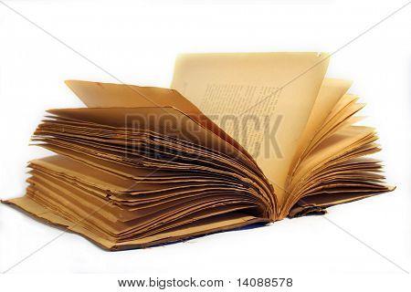 Alte gebrauchte Buch geöffnet