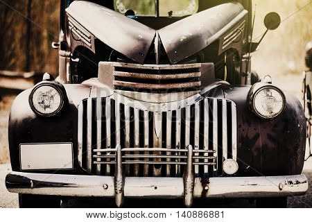 Classic american vintage car. Hot rod style.