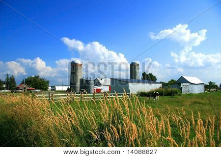 Working farm in rural Quebec, Canada