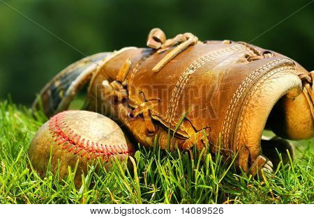 Old glove and baseball