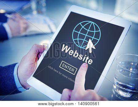 Web Website WWW Browser Internet Networking Concept