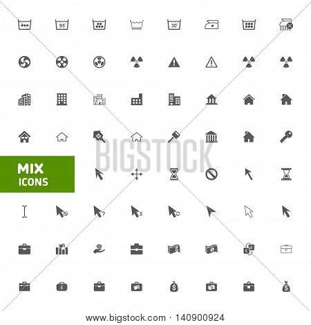 Web site Mix vector icons set. vector illustration