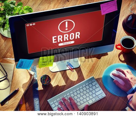 Error Network Problem Technology Software Concept