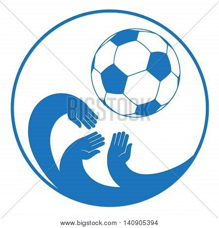 Icon football. illustration in flat style. vector format. conceptual vector illustration for web design and Polygraphy