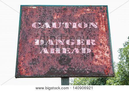 Caution Danger Ahead Text