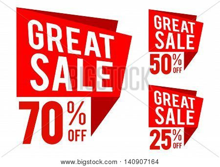 Vector stock of great sale icon in speech bubble