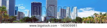 Miami Downtown skyline view, Miami, United States