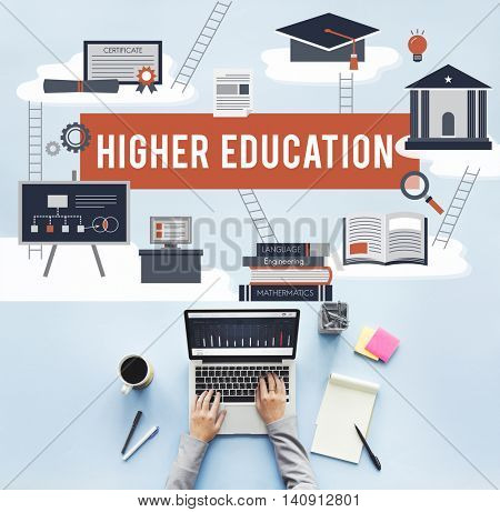 Higher Education Academic Bachelor Financial Aid Concept