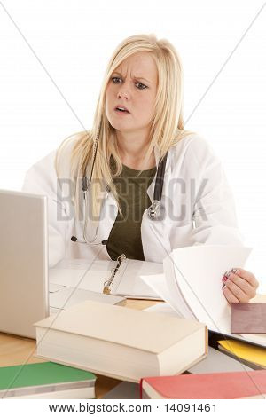 Doctor Surprised At Computer
