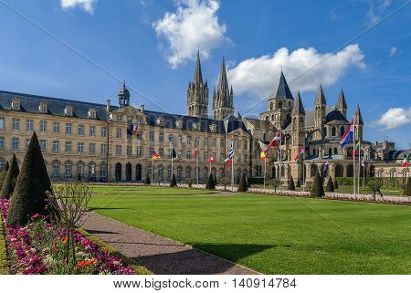 The Abbey of Saint-Etienne is a former Benedictine monastery and town hall in the French city of Caen Normandy dedicated to Saint Stephen.