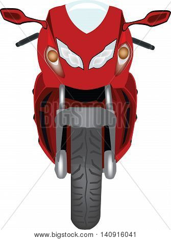 red racing motorcycle with high-powered fairing racing red motorbike