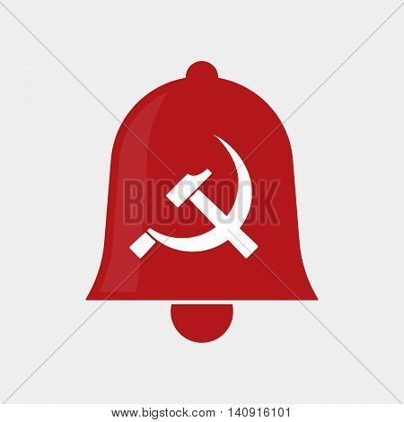 Isolated Bell Icon With  The Communist Symbol