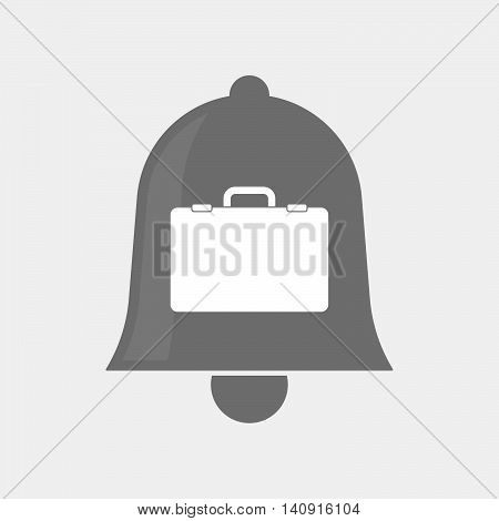 Isolated Bell Icon With  A Briefcase