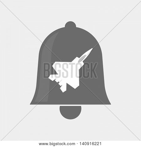 Isolated Bell Icon With A Combat Plane