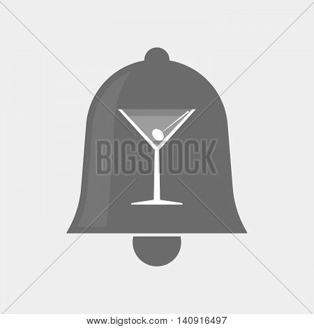 Isolated Bell Icon With A Cocktail Glass