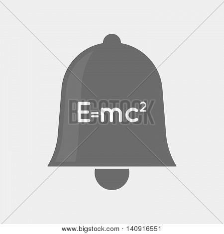 Isolated Bell Icon With The Theory Of Relativity Formula