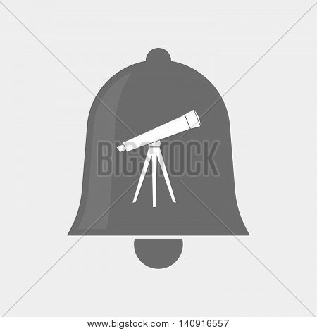 Isolated Bell Icon With A Telescope