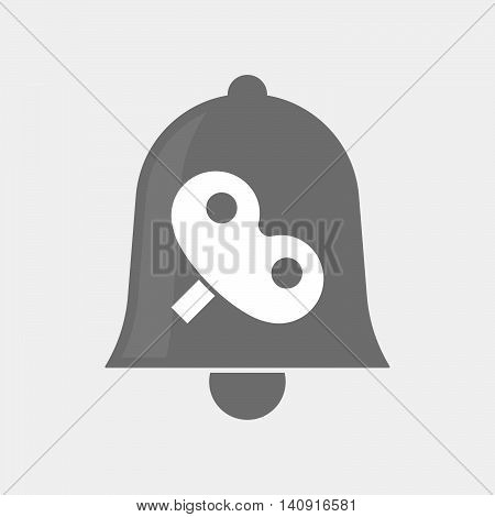 Isolated Bell Icon With A Toy Crank