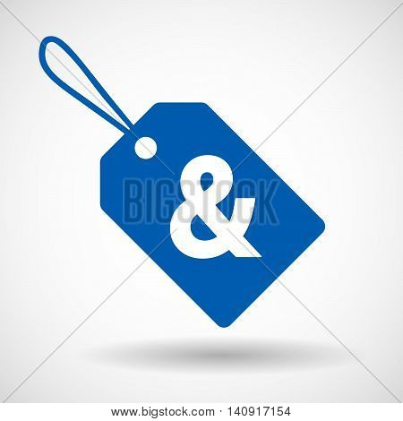 Isolated Label With An Ampersand
