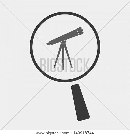 Isolated Magnifier Icon With A Telescope