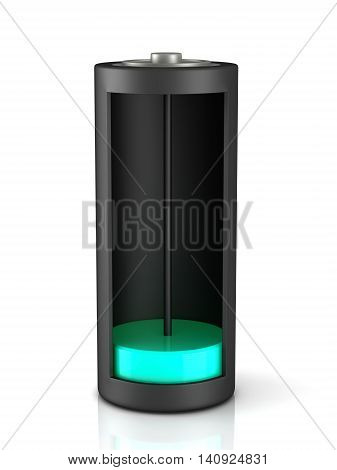 3D Rendering. Battery Load Icon
