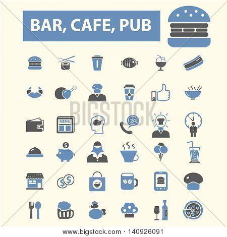 bar, cafe, cafeteria, pub icons