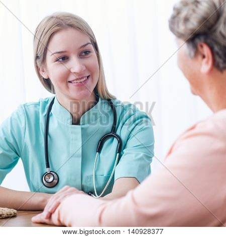 Patient During Home Medical Consultation