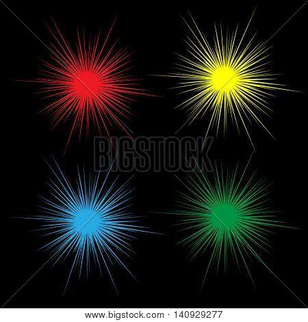 Bright flash image. Vector illustration