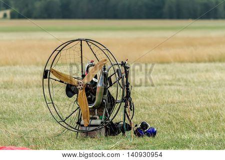 Paraglider On Grass