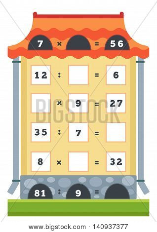 Counting Educational Game For Children. Tasks For Addition And Subtraction