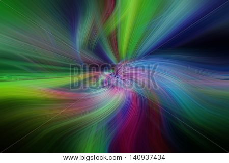 Multicolored abstract patterns. Concept Aurora Borealis. Horizontal
