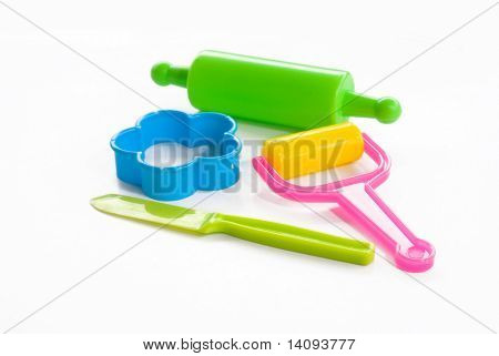 colorful clay for children (tools)