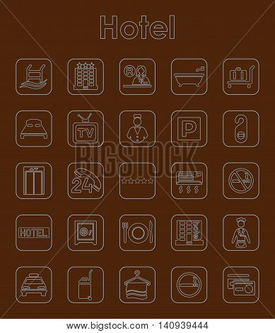 It is a set of hotel simple web icons