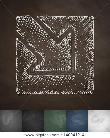 enter icon. Hand drawn vector illustration. Chalkboard Design