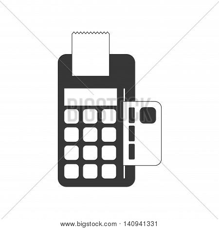dataphone payment money shopping icon. Isolated and flat illustration. Vector graphic