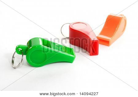 whistle on white background