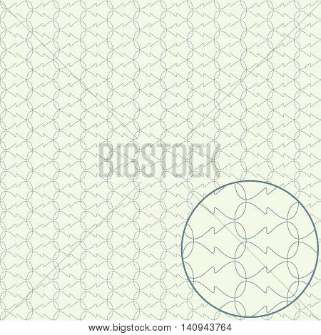 Seamless guilloche pattern contour vector illustration background